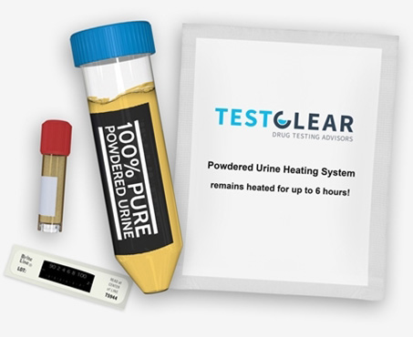 powdered dehydrated urine made by testclear that is a great alternative to using synthetic urine